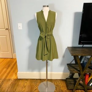 Tie Waist Mini Dress